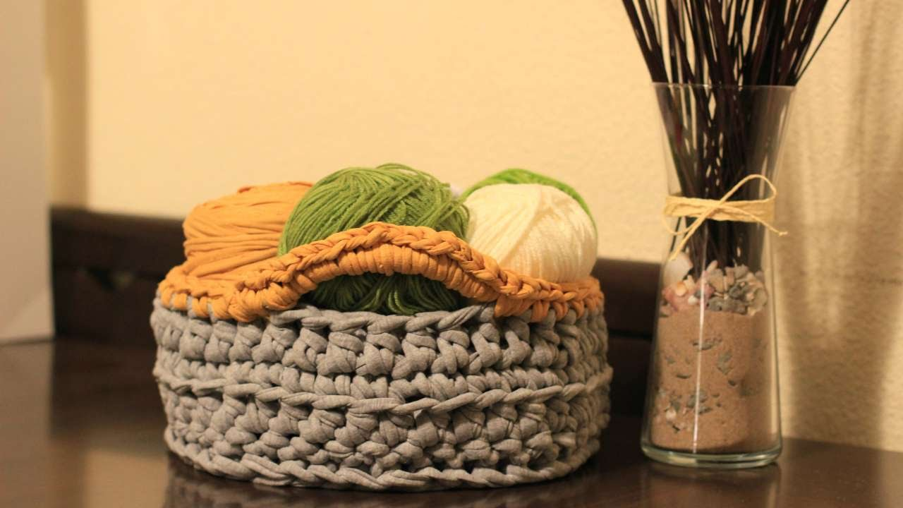 How To Crochet A Home Organization Chunky Basket - DIY Crafts ...