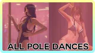 Dead or Alive Xtreme 3 Scarlet - ALL Character Pole Dance Scenes