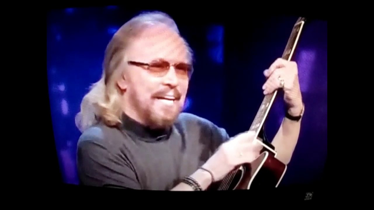 Funny Barry Gibb discusses his falsetto voice - YouTube