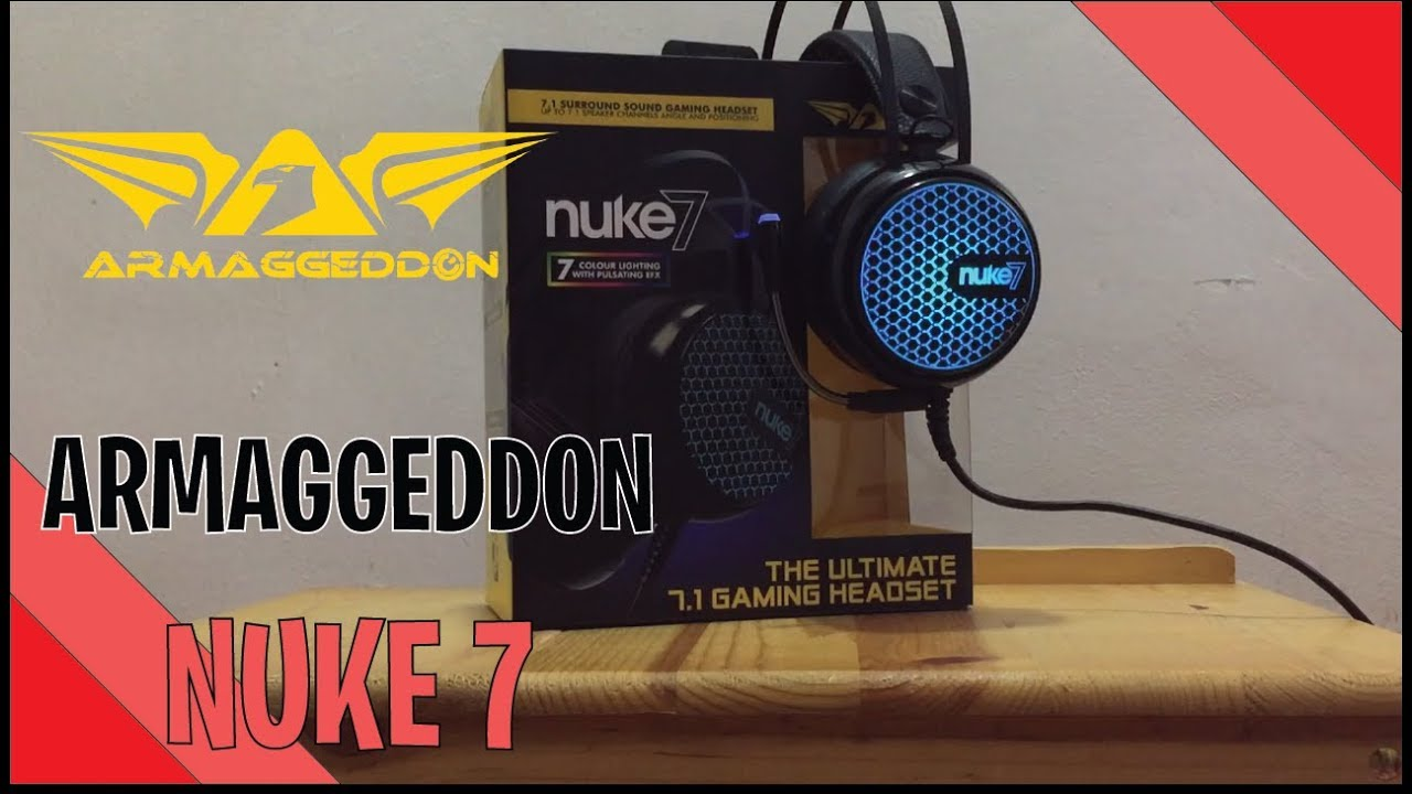 Review/Unbox - ARMAGGEDDON Nuke 7 Gaming Headset (7 1 stereo surround  sound) [BM/MY] [MALAYSIA]