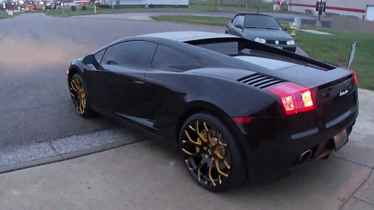 Spade Made Black Lamborghini Gallardo On Forgiato Rims Youtube