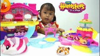 Mainan lucu 💖 Hamster jualan Burger sambil dorong Kereta 💖 Jenica suka!!!