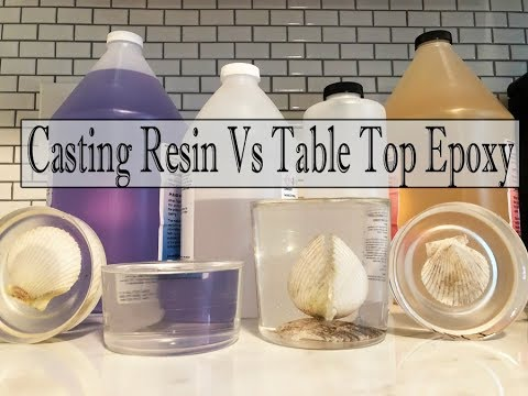 Casting Resin Vs Table Top Epoxy- What's The Difference?