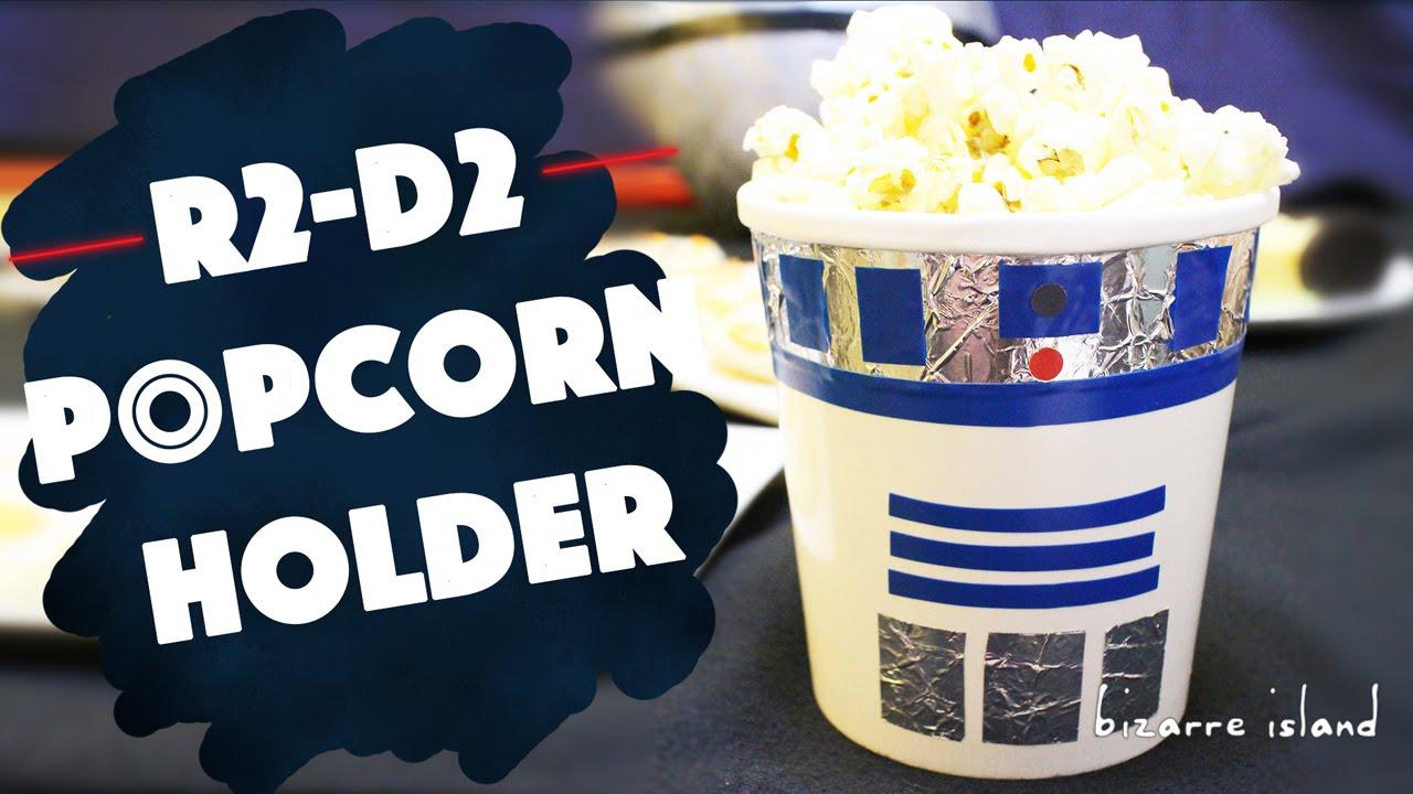 DIY R2 D2 Popcorn Holder