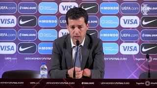 Europeu Futsal Fem.: As reações do Selecionadores após a final