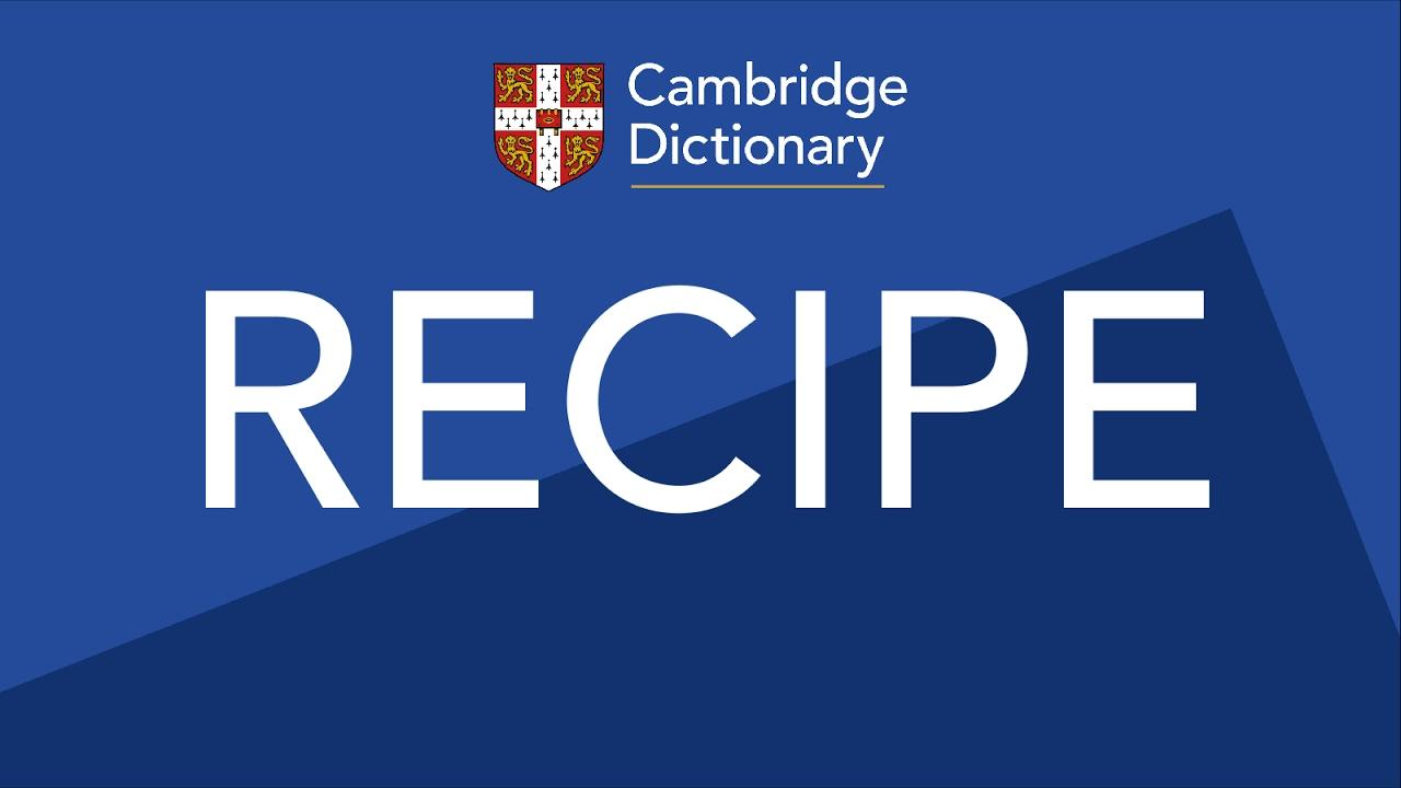 Ricetta In Italian To English.Recipe Pronunciation In English