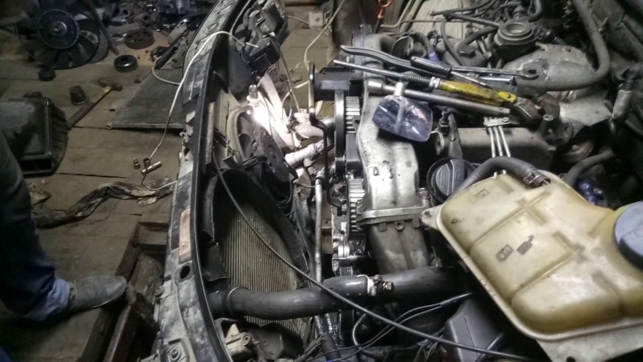 audi 100 44 кузов замена переднего сальника коленвала