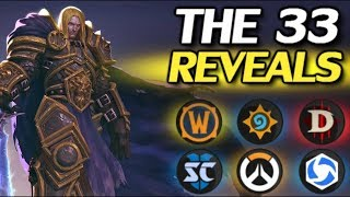 The 33 Reveals Coming Soon - World of Warcraft, Hearthstone, Overwatch, More