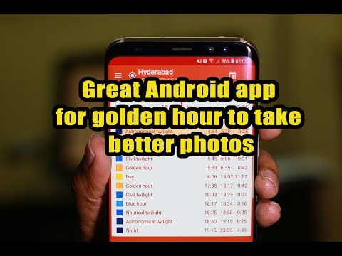 Great Android app for golden hour to take better photos