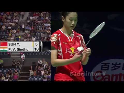 Badminton China Final SUN Yu vs PUSARLA V Sindhu badminton cup hongkong 2016