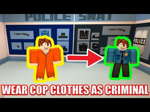 Roblox Jailbreak Cop With A Prisoner Outfit Youtube How To Wear Cop Outfit As Criminal Roblox Jailbreak Youtube