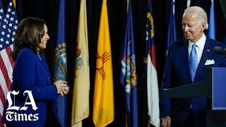 Joe Biden and Kamala Harris make first appearance as Democratic ticket
