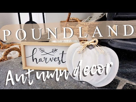 POUNDLAND DIY FALL/AUTUMN DECOR #1