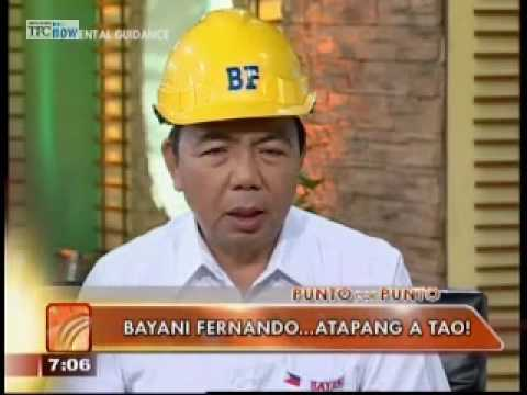 Punto Por Punto: One-on-one with vice pres'l bet Bayani Fernando