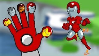 Super Iron Men Finger Family | SuperHeroes Nursery Rhymes for Children