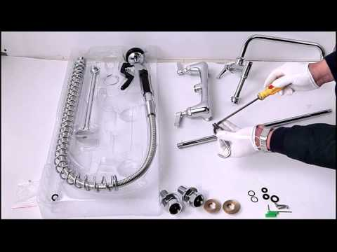 How to install Pull Out Spray Commercial Kitchen Faucet