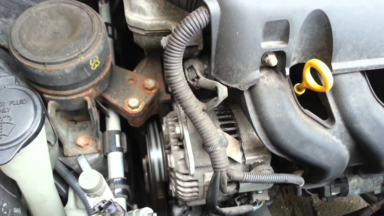 2010 Toyota Corolla S Engine Diagram Toyota Yaris Alternator Noise Before And After Youtube