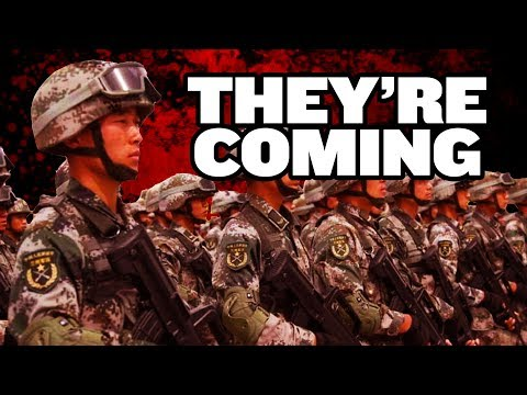 Chinese Military Police Massing Near Hong Kong?