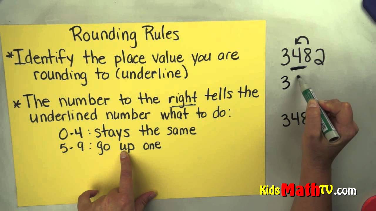 Worksheet Rounding Numbers 4th Grade math video on the rules for rounding numbers 3rd 4th grade youtube