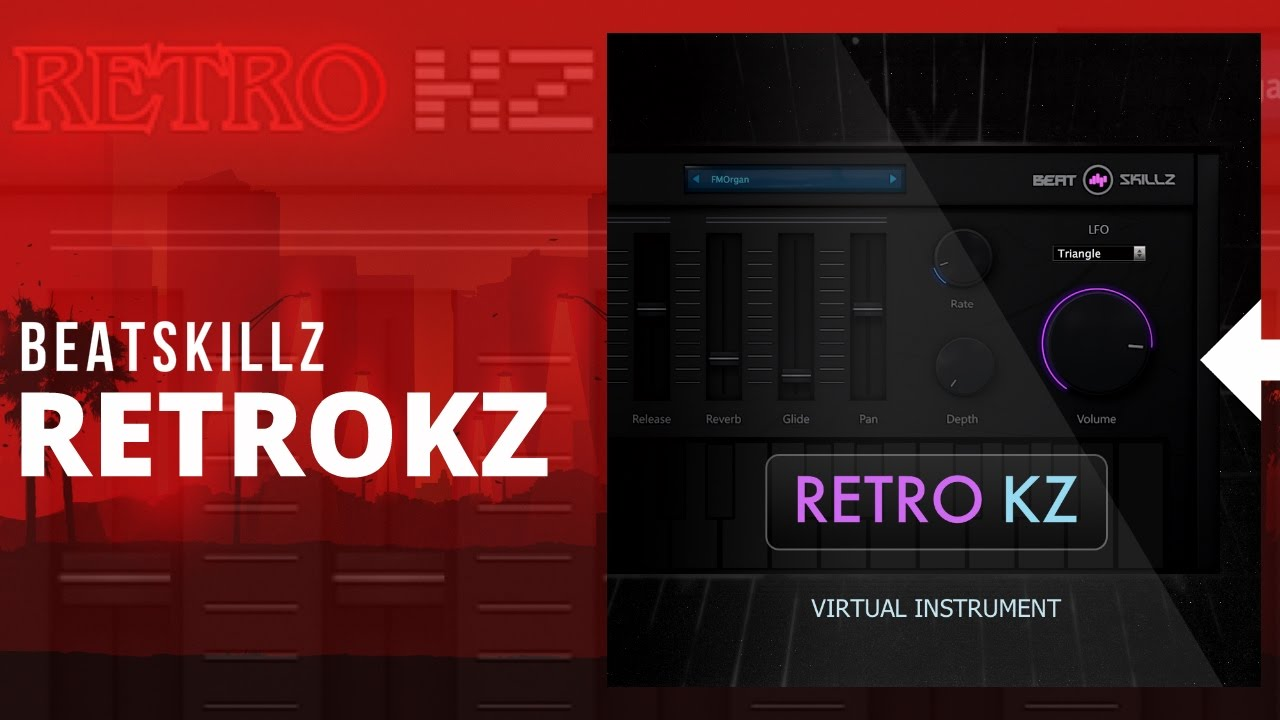 BeatSkillz RetroKZ 80s inspired rompler plugin on sale for $9 USD