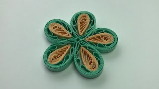✿ Quilling - Floare - Tutorial 4 - AidaCrafts