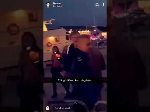 Erling Braut Haaland Kicked Out Of A Nightclub In Norway Youtube