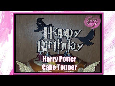 Harry Potter Themed Cake Topper