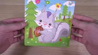 """""""Squirrel"""" children's puzzle - Unpacking Parcel"""