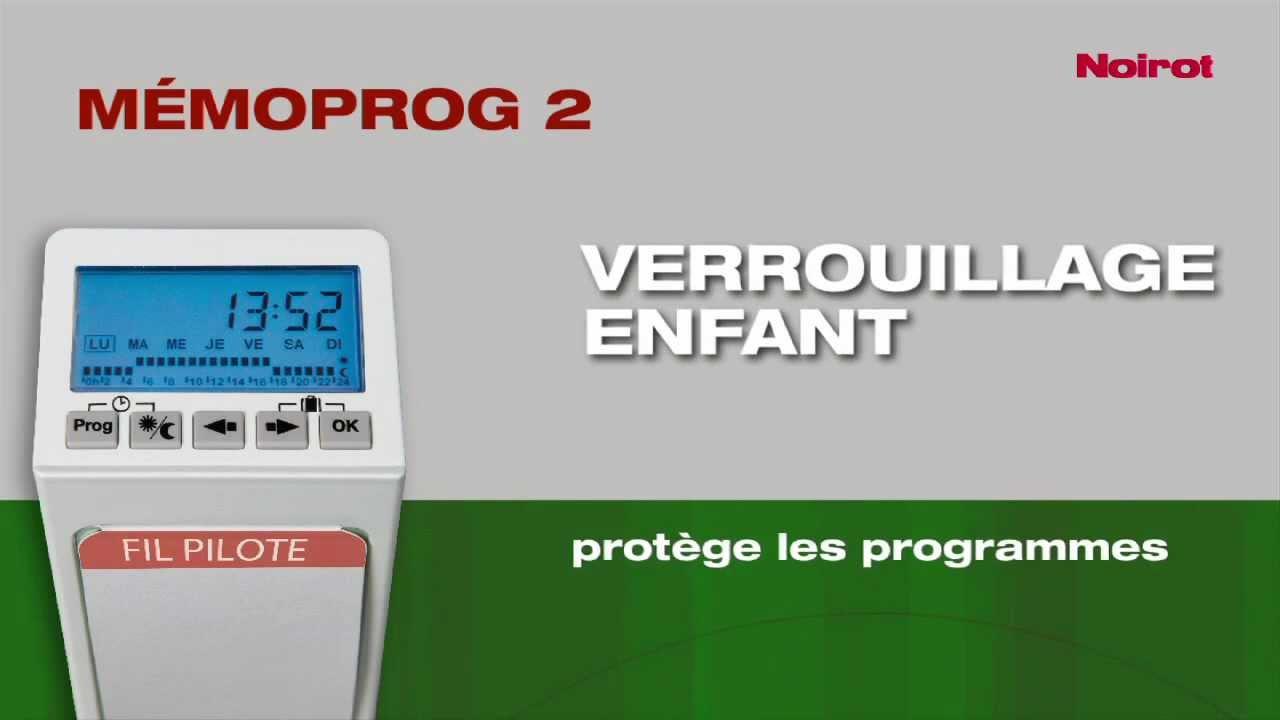 Noirot Memoprog Programmation De Chauffage I Maison Energy