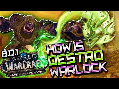 BFA Destruction Warlock: Class Overview (WoW BFA Pre Patch)