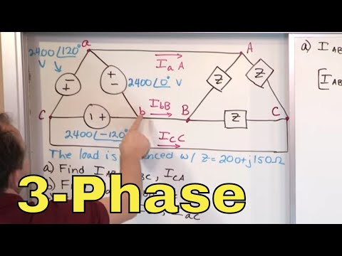 01 - Delta-Delta 3-Phase Circuit Problems, Part 1 (AC Circuit Analysis)