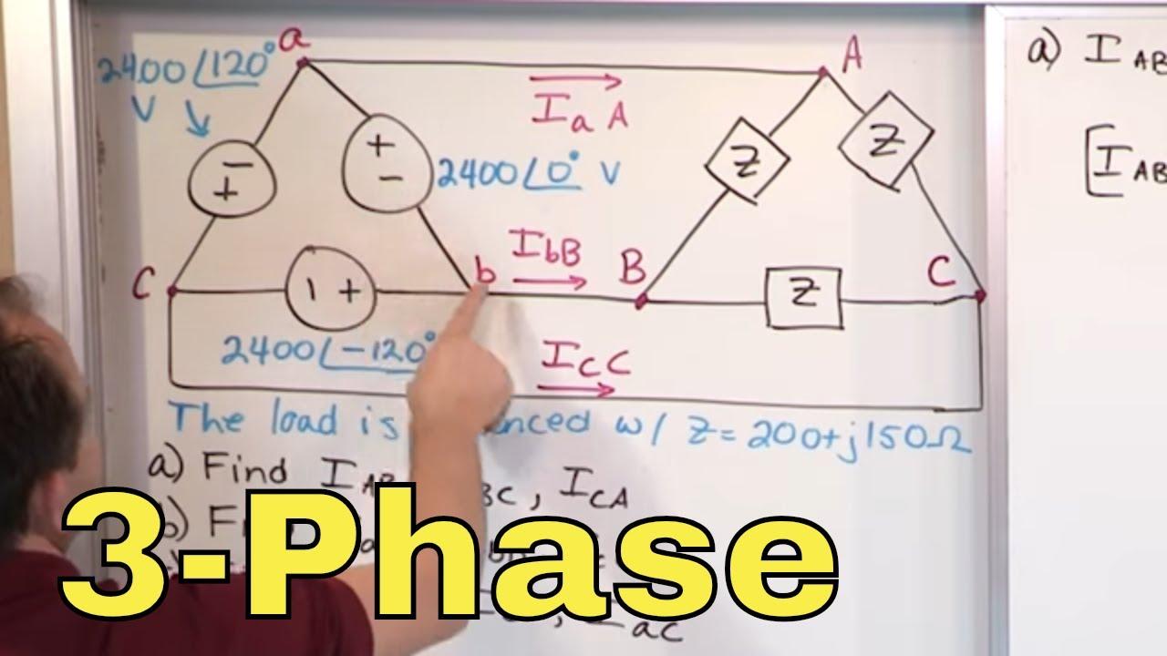 01 Delta Delta 3 Phase Circuit Problems Part 1 Ac Circuit