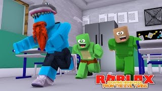ESCAPING LITTLE LIZARD HIGHSCHOOL !!!! Sharky Gaming - France Roblox