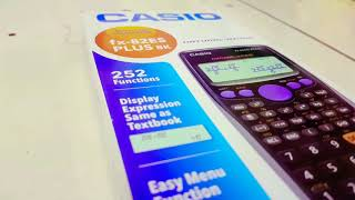 unboxing and telling some features of CASIO fx-82ES PLUS BK