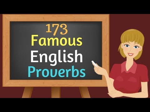 Famous English Proverbs ▶️ 173 Important English Proverbs