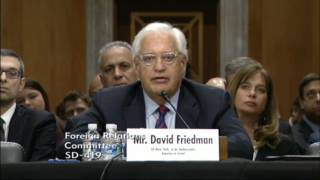 """Friedman: Opportunity To Serve As Ambassador To Israel Would Be """"The Fulfilment of A Life's Dream"""""""