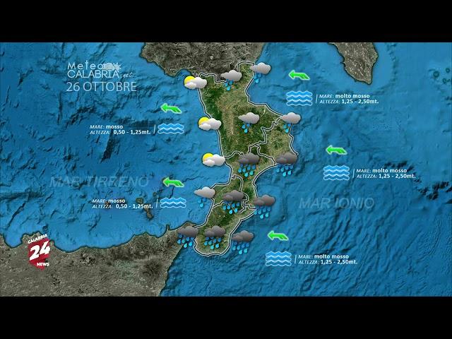 Il Meteo di Calabria News 24