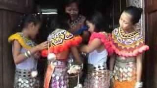 Iban Longhouse Tabuh ngajat warrior dance