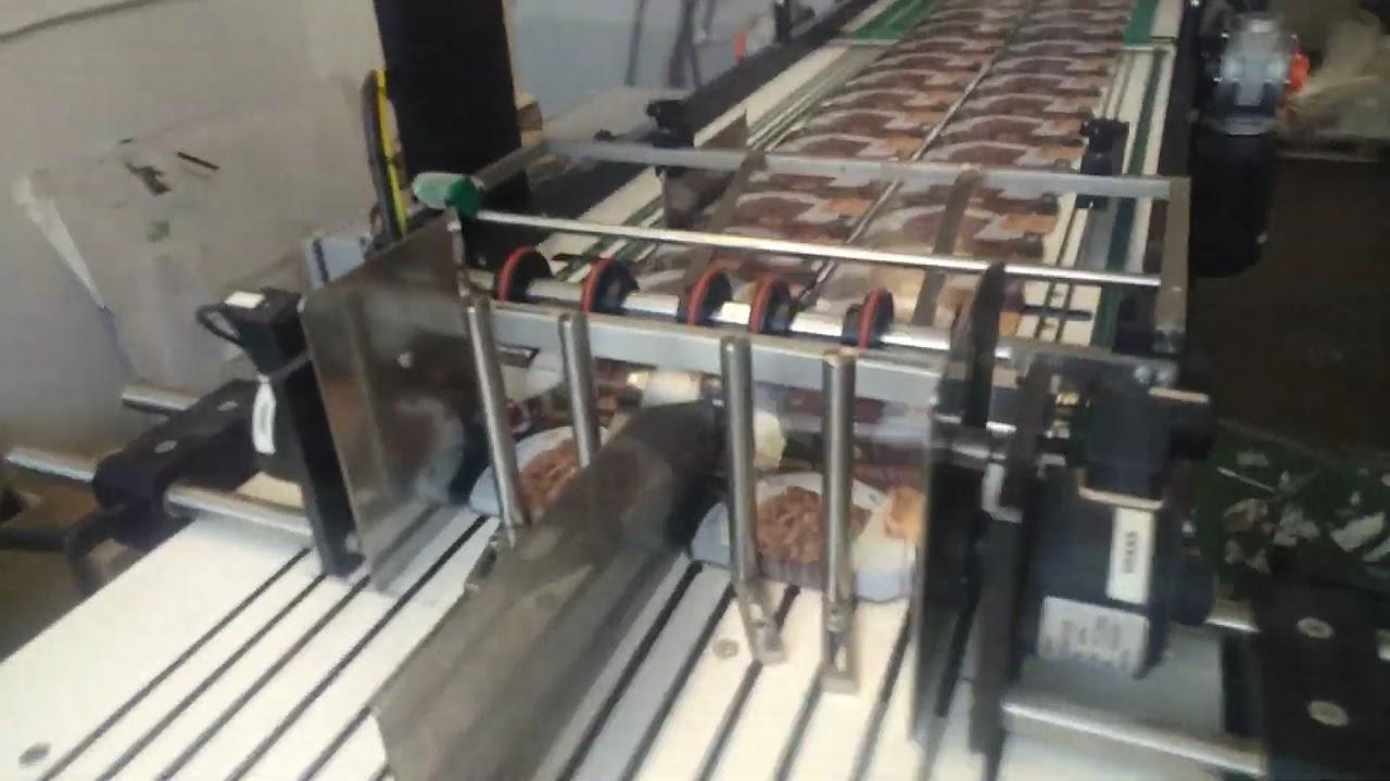 Ротационная высечка (вырубка) вплавляемых IML этикеток с автосборкой в стопки с заданным количеством