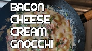 Bacon Garlic Cheese Creamy Gnocchi Recipe
