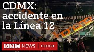 Imágenes del lugar donde se desplomó la vía del metro de la Línea 12 en Ciudad de México