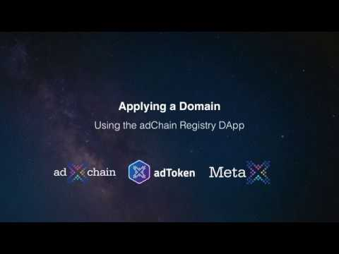 Applying a Domain into the adChain Registry