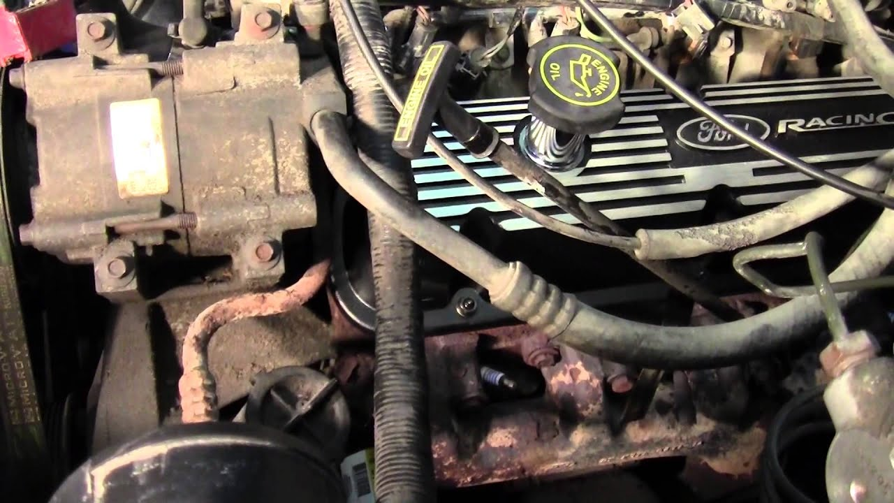 hight resolution of f150 302 valve cover replacement and upper intake plenum day 1