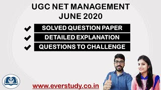 Solved Paper UGC Net Management 2020 Detailed Analysis
