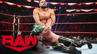 Seth Rollins battles Andrade for Team Raw leadership role: Raw, Nov. 18, 2019