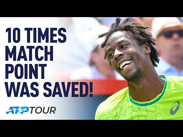 10 Times Match Point Was Incredibly Saved! | TOP 10 | ATP
