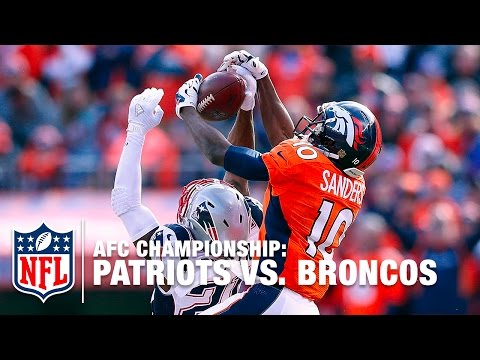 Emmanuel Sanders Goes Up High in Mile High for Spectacular Catch! | Patriots vs. Broncos | NFL