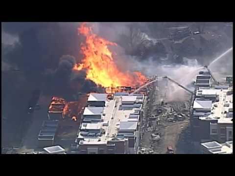 Overland Park apartment complex catches fire