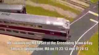 My MBTA trainset at the Wilmington Greenberg Show (Feat. E Rain)