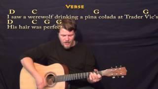 Werewolves of London - Strum Guitar Cover Lesson with Lyrics/Chords